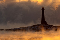 Sunrise seasmoke Twin Lights