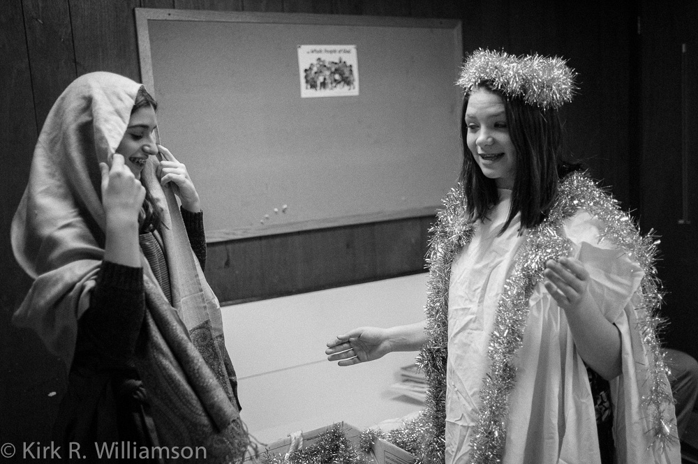 Preparing for the Christmas pageant